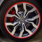 Red AlloyGator alloy wheel protectors